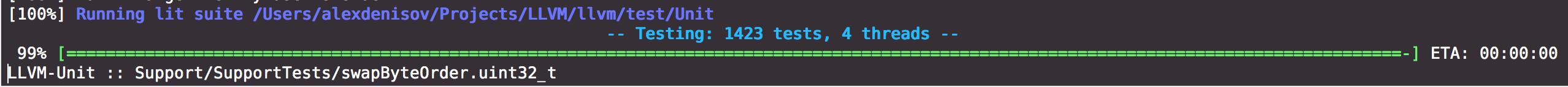 System Under Test: LLVM - Low Level Bits